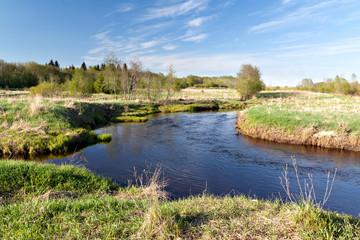 A small river in central Russia