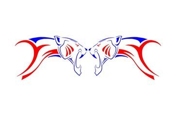 twin animal vector
