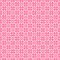 Abstract seamless pattern in pink and white