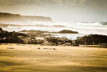 sandy beach, spot cotillo, fuerteventura, canary islands
