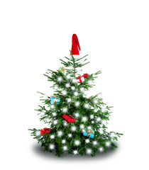 Weihnachtsbaum mit leds