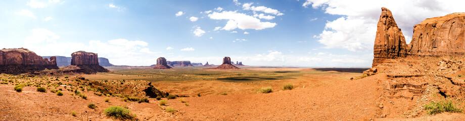 Panorama: The Artist Point - Monument Valley scenic panorama - Arizona, AZ, USA