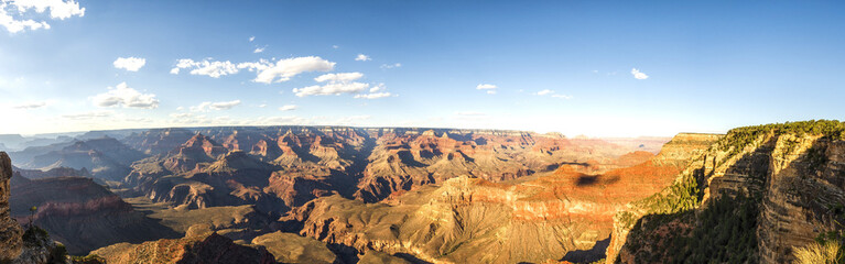 Panorama: Yavapai View Point - Grand Canyon, South Rim, Arizona, AZ, USA