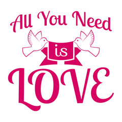 Wedding/All you need is love/Label/Badge