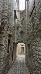 old town of croatian city trogir