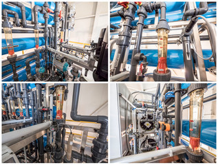 Reverse osmosis, softening, ion exchange, electrodeionization