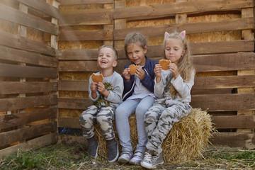 children with waffels