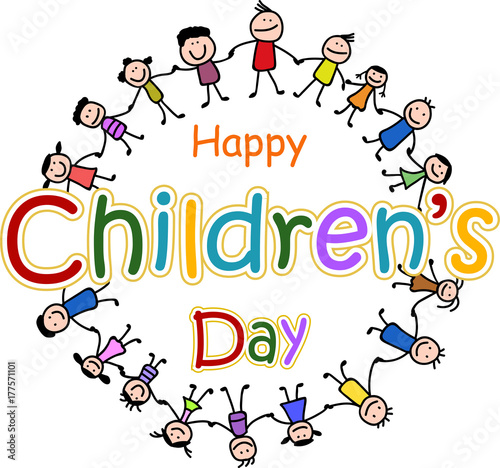 """Happy Children's day"" Stock image and royalty-free vector ..."