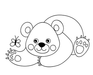 Vector Cute Cartoon Bear