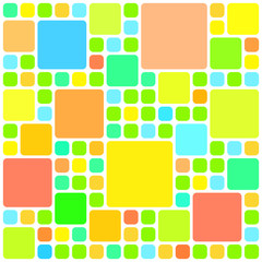 Abstract colorful squares pattern