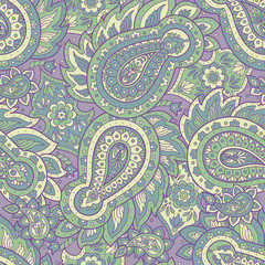 Paisley seamless pattern. Vintage floral background