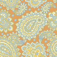 Seamless Ethnic Decorative Pattern. Paisley Vector Seamless Pattern
