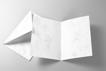Blank greeting card and envelope