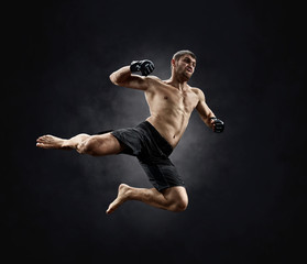 Wall Murals Martial arts male fighter