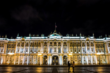 Hermitage in Palace Square in Saint-petersburg