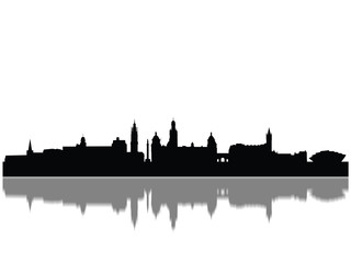 Detailed Glasgow Monuments Skyline Silhouette