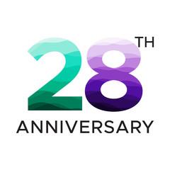 28th anniversary unique number