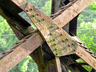 Old Metal Train Trestle