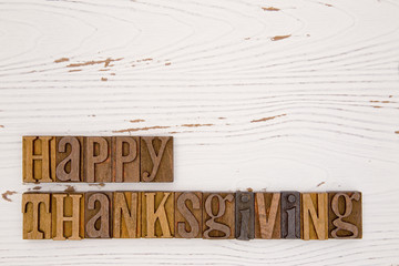 Thanksgiving Themed Background with Type Set Lettering