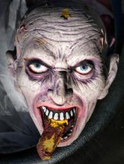 Halloween Face in a Cauldron