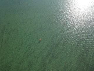 Lone Kayaker on Magician Lake in Southwest Michigan