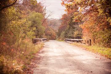 Fall country bridge