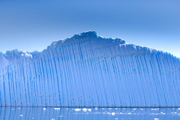 A beautifully sculpted iceberg in Antarctica