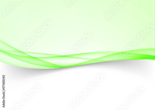 green futuristic soft wave lines border background template stock