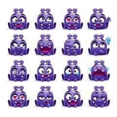 Little cute funny violet alien