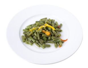 Cooked green beans.