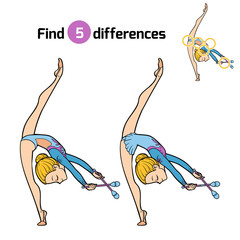 Find differences, The gymnast and juggling clubs