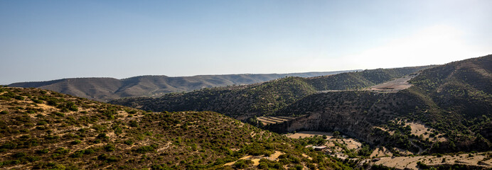 A mountain view on a way from Limassol to Platres in Cyprus