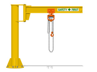 Isolated Jib crane on transparent background