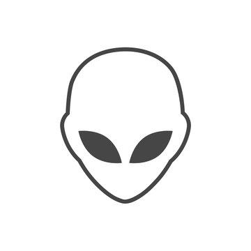 Alien head icon, Extraterrestrial alien face