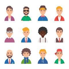 Set of male vector avatars