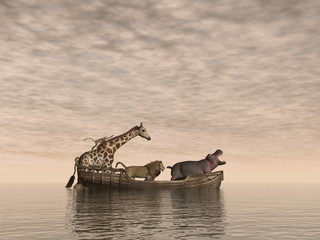 Safe animals - 3D render