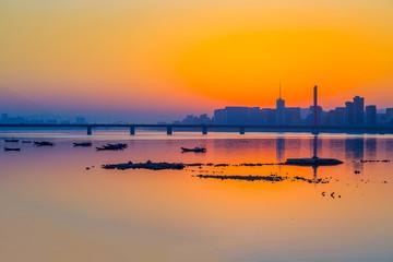 Hangzhou Qiantang River evening beauty