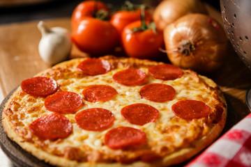 Fresh Pepperoni pizza