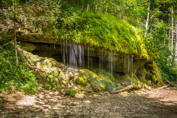 Quelle in der Wutachschlucht im Schwarzwald Wutach