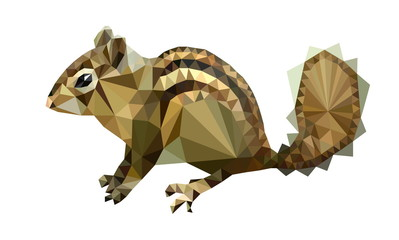 picture polygon shape sitting Chipmunk