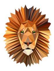 polygon picture lion head