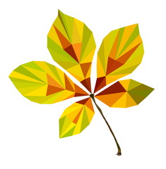 polygon picture of autumn leaf chestnut