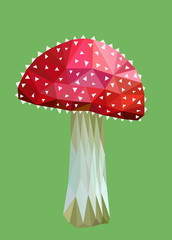 polygon picture agaric mushroom