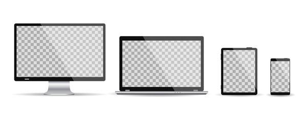 Set four devices - vector illustration