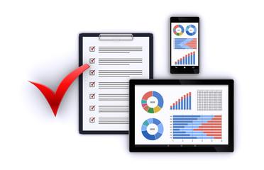 スマートデバイスとビジネス資料