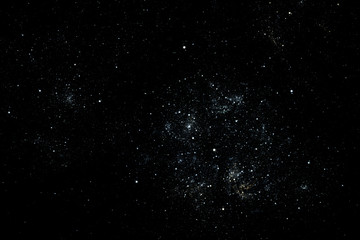 Night sky space background with stars