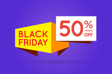 Black Friday Sale Sign Banner Poster ready for Web and Print. Vector. Super, Mega, Huge Sale with Special Offer