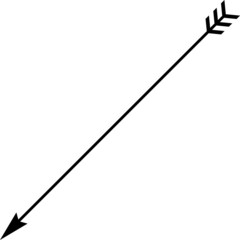 A black and white silhouette of an arrow vector illustration