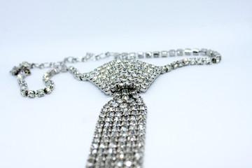 Tie with shines stones