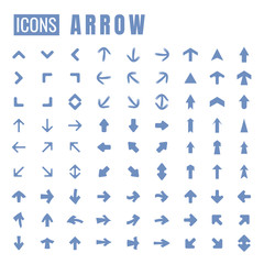 arrow blue set Icon on white background. vector illustration. web. symbol